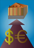 Signs of the dollar and euro — Vecteur