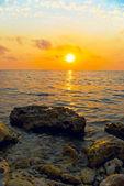 Piedras y puesta del sol — Foto de Stock