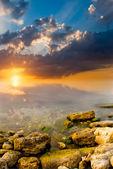 Coucher de soleil incroyable — Photo