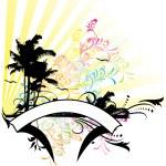 contexte tropical — Vecteur #5649100