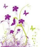 Grunge floral background — Stock Vector #5649205