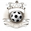 Soccer ball (football) on grunge background - Stock Vector