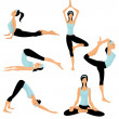 Royalty-Free Stock Vector Image: Yoga poses