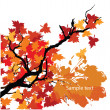 Vector Autumn background with space for text. — Stock Vector