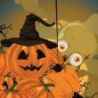 Halloween pumpkin vector illustration. — Stock Vector #5649827