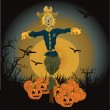 Halloween scarecrow vector illustration — Stock Vector #5649888