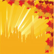 Autumn in the city — Stock Vector