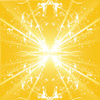 Stock Vector: Sunburst vector