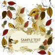 Autumn falling leaves background - Stockvectorbeeld