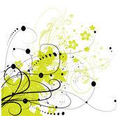 Abstraktní květinové pozadí, prvek pro návrh. — Stock vektor