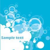 Abstract Bubbles Background — Stock Vector