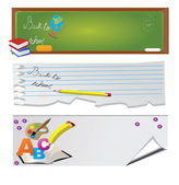 Back to school - set of banners — Stock Vector