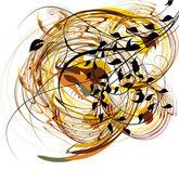 Осенний цветочный фон — Cтоковый вектор