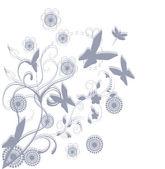 Floral hintergrund gruss-karte — Stockvektor