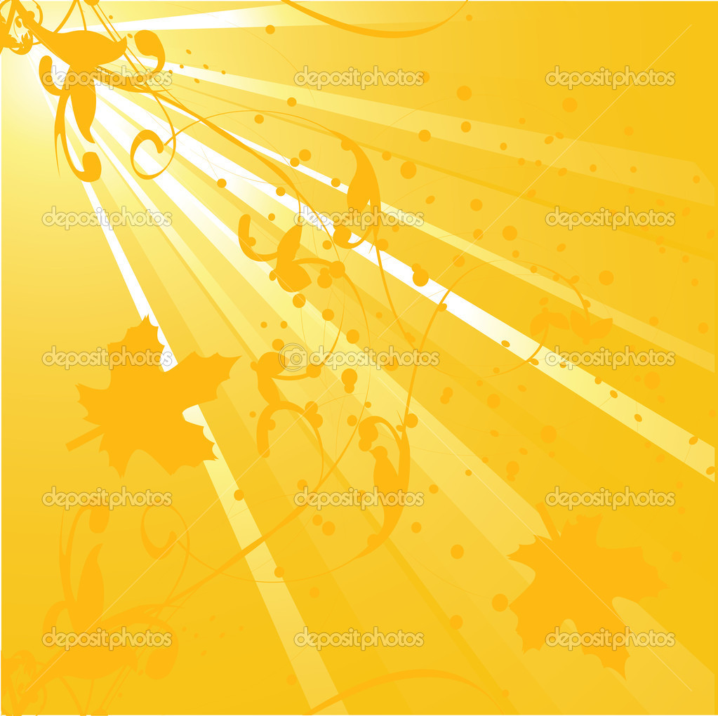 Golden autumn, vector abstract background  — Stock Vector #5649903