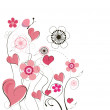 Cute vector valentine background — Stock Vector