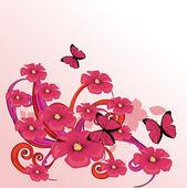 Beauty pink flower design — Stock Vector