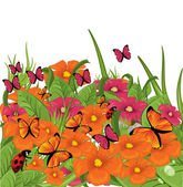Wildflowers — Stock Vector