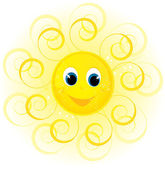 Sun smile — Stock Vector