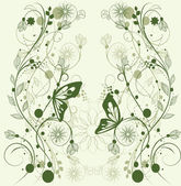 Floral background, greeting card — Stock Vector