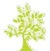 Green stylized tree — Stock Vector