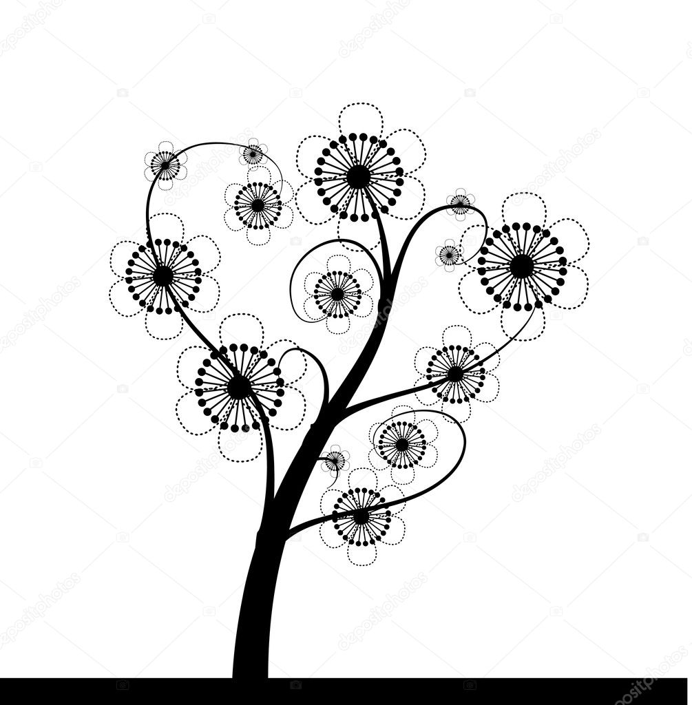 Spring tree — Stock Vector #6013798