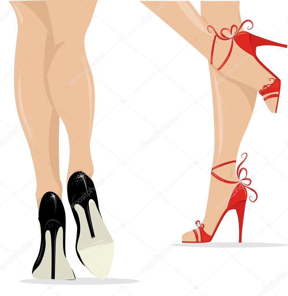 Нарисовать ноги с туфлями