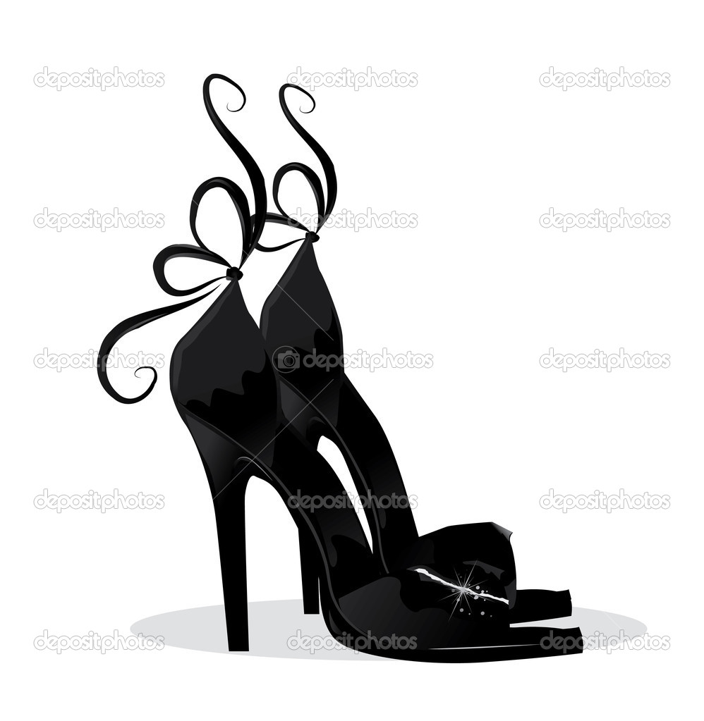Black shoes  — Stock Vector #6014050
