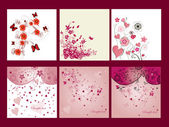 Floral cards — Stock Vector