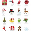 Christmas Set of icons on white background — Stock Vector