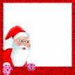 Christmas greeting card with Santa Claus — Stock Vector