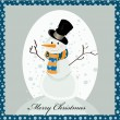 Sweet snowman greeting card — Stock Vector