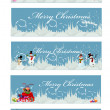Stock Vector: Set of 5 christmas banners