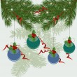 Christmas tree branches vector background — Stock Vector #6601099