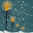 Christmas lamppost background — Stock Vector