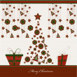 Christmas card, vector - Stockvectorbeeld