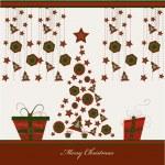 Christmas card, vector — Stock Vector