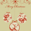 Christmas greeting - Stock Vector
