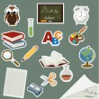 Back to school icon set — Stock Vector #6601468