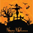 Vector halloween background — Stock Vector #6601563