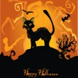 Vector halloween background — Stock Vector #6601571
