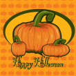Card with  pumpkin - Stock Vector