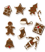 Gingerbread cookies - vector — Wektor stockowy