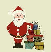 Christmas card with Santa. — Stock Vector