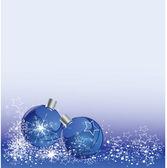 Christmas balls on blue background — Stock Vector