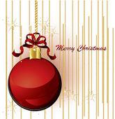 Christmas ball background — Stock Vector
