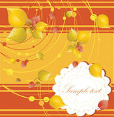 Elegant autumn background with place for your text — Stock Vector