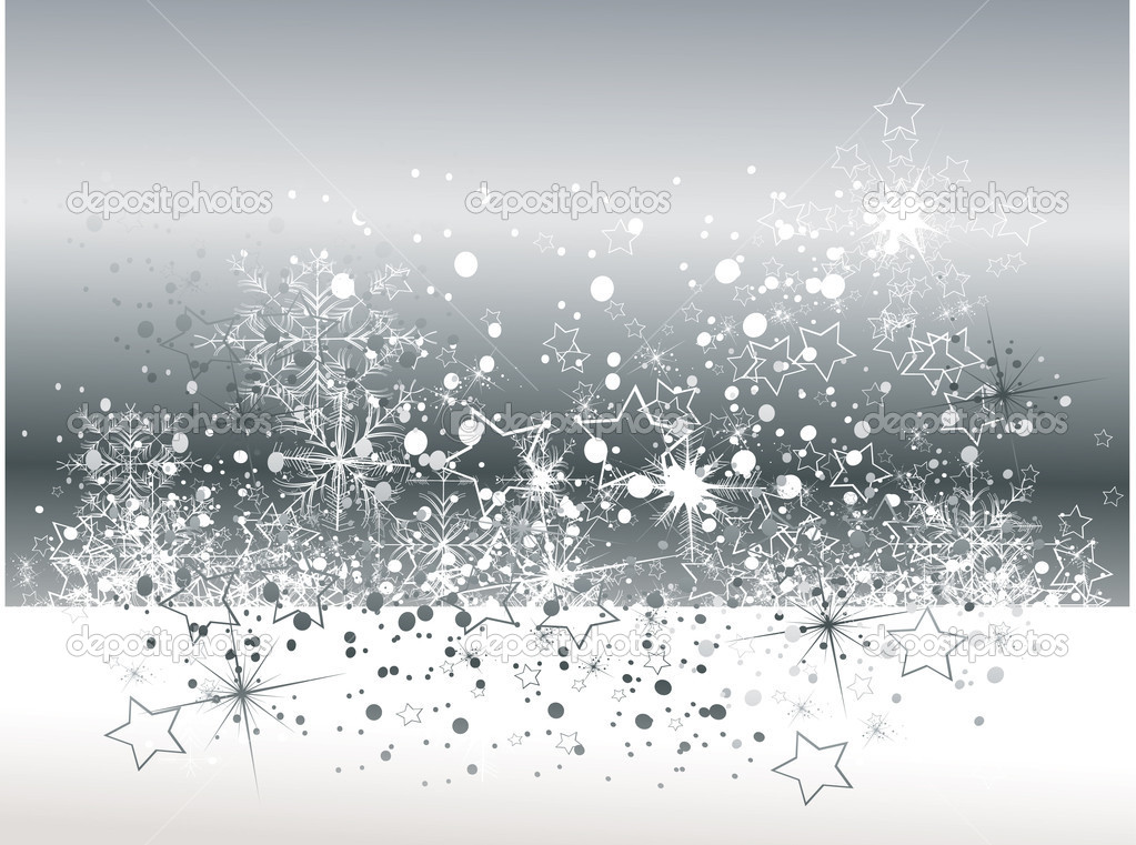 Elegant Christmas Background With Snowflakes Stock Vector: Stock Vector © Lindwa #6601316