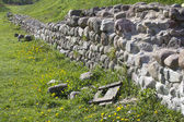 Ancient fence of rocks. Ruins of it. — Stock Photo