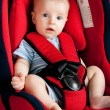 Royalty-Free Stock Photo: Boy in car seat